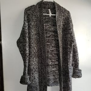 Charcoal& Black Peppered- •Aéro•| Cardigan Sweater